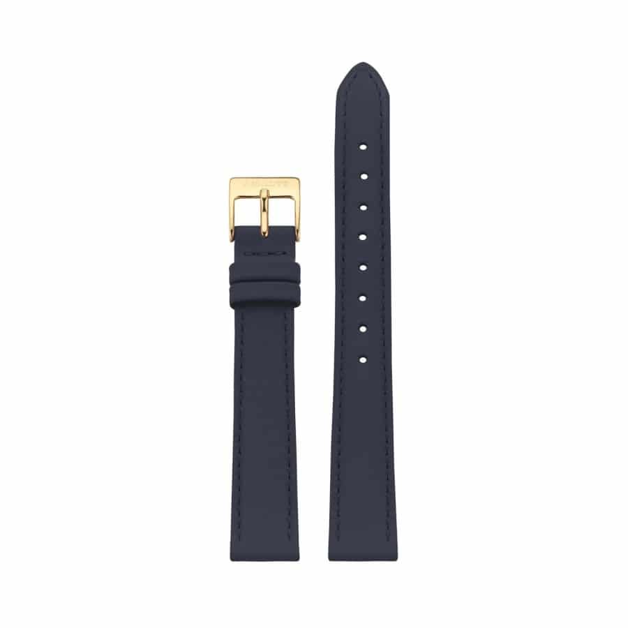 Navy leather strap - Gold / 14mm  - 1