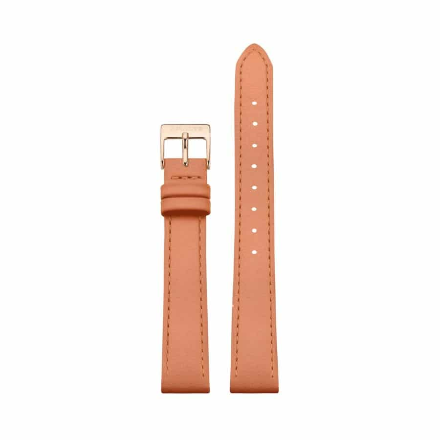 Peach leather strap - Rose gold / 14mm  - 1