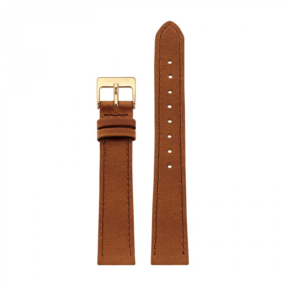 Brown leather strap - Gold / 16mm  - 1