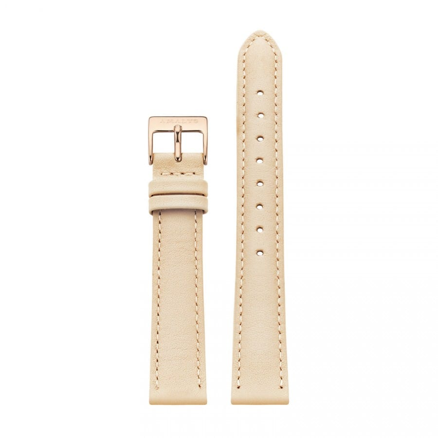 Nude leather strap - Rose gold / 16mm  - 1