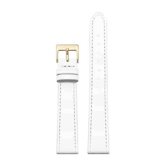 White leather strap - Gold / 16mm  - 1