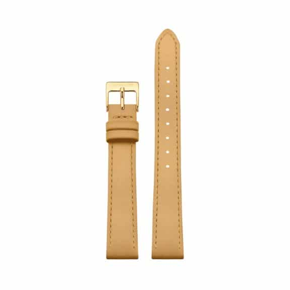 Ocher Yellow leather strap - Gold / 16mm  - 1