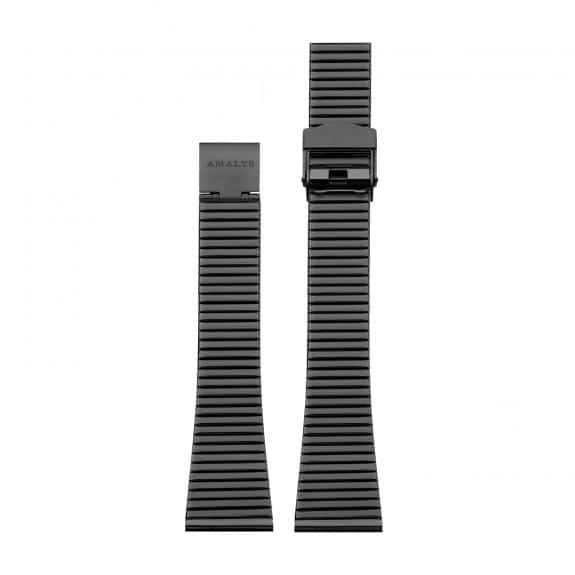 Black steel link strap / 16mm  - 1