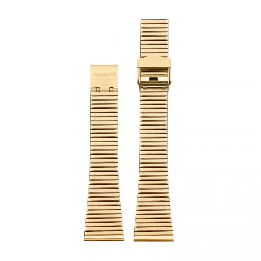 Gold steel link strap / 16mm  - 1