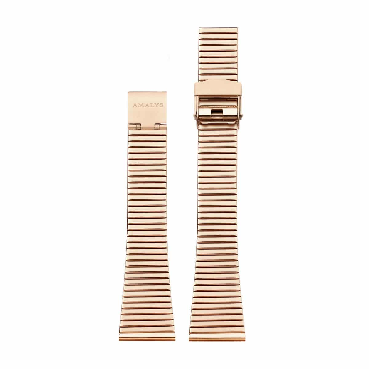 Rose gold steel link strap / 16mm  - 1