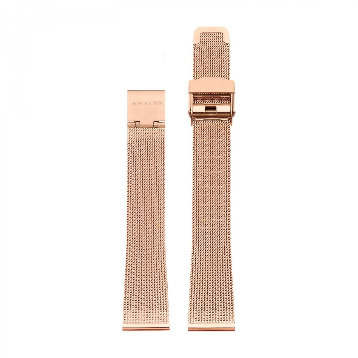 Rose gold mesh strap / 16mm  - 1